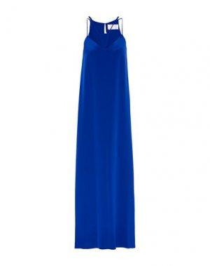 Длинное платье CUSHNIE. Цвет: синий
