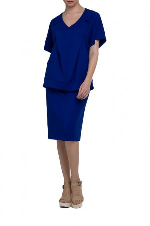 Костюм: блуза, юбка Adzhedo. Цвет: ультрамарин