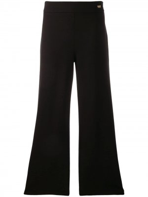 Расклешенные брюки Cavalli Class. Цвет: черный