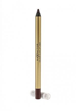Карандаш для губ Max Factor Colour Elixir Lip Liner 08 тон mauve mistress. Цвет: коричневый