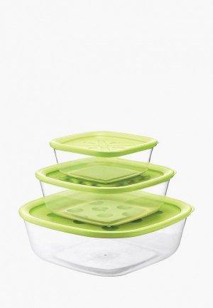 Набор контейнеров для хранения продуктов Guzzini Forme Casa. Цвет: прозрачный
