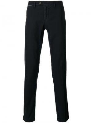 Классические брюки-чинос Eleventy. Цвет: синий