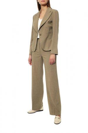 Костюм: пиджак, брюки MODART. Цвет: бежевый