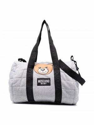 Teddy Bear-print changing bag Moschino Kids. Цвет: серый