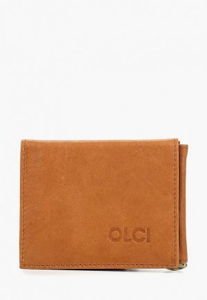 Зажим для купюр Olci. Цвет: коричневый