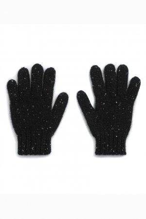 Черные кашемировые перчатки Bonpoint. Цвет: черный