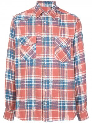 Клетчатая рубашка California Western Gitman Vintage. Цвет: красный