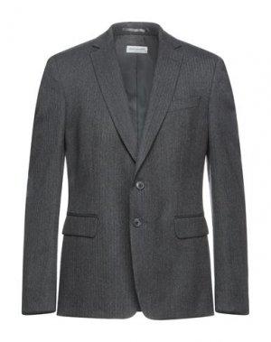 Пиджак DRIES VAN NOTEN. Цвет: свинцово-серый