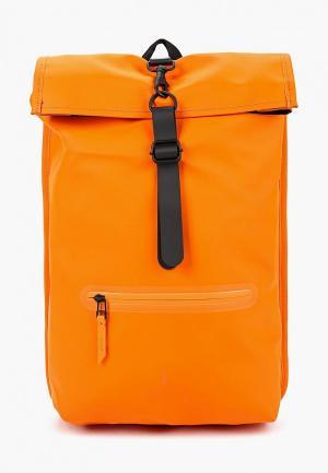 Рюкзак Rains. Цвет: оранжевый