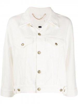 Джинсовая куртка с укороченными рукавами Ports 1961. Цвет: белый