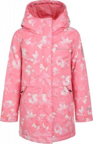 Куртка утепленная для девочек , размер 140 Outventure. Цвет: розовый
