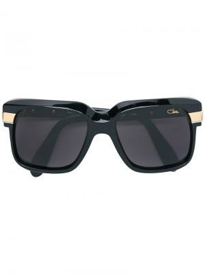 Солнцезащитные очки в квадратной оправе с металлическими деталями Cazal. Цвет: черный