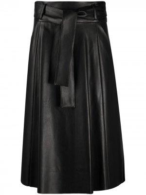Tie-waist A-line skirt Drome. Цвет: черный