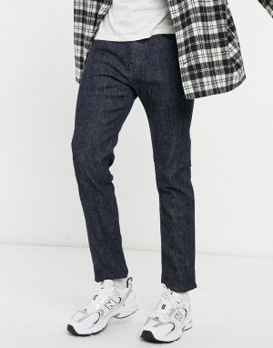 Темные выбеленные зауженные джинсы ED80-Голубой Edwin
