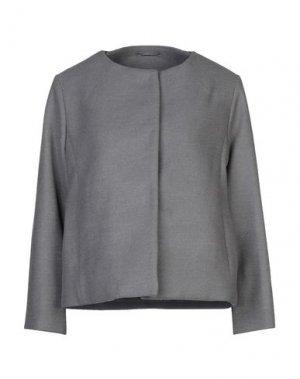 Пальто ADHOC. Цвет: серый