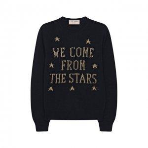 Шерстяной пуловер Alberta Ferretti junior. Цвет: синий
