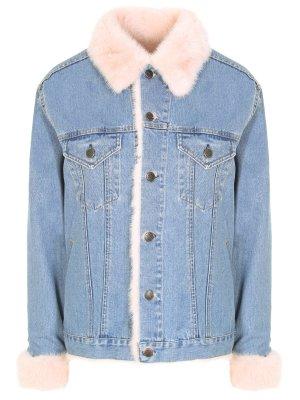 Джинсовая куртка с мехом норки RINDI