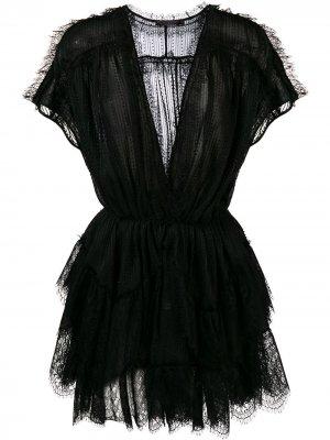 Lace mini dress Amen. Цвет: черный