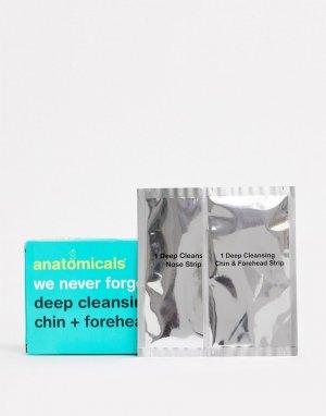 Очищающие полоски для носа, лба и подбородка -Бесцветный Anatomicals