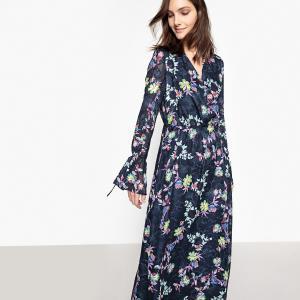 Платье длинное с цветочным принтом, c длинными рукавами LA REDOUTE COLLECTIONS