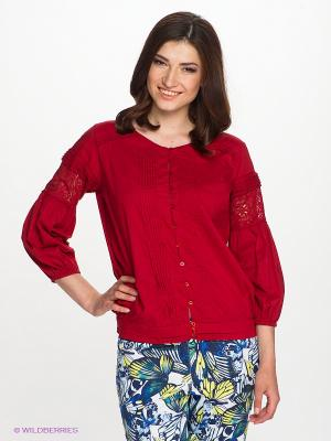 Блузка E-go. Цвет: красный