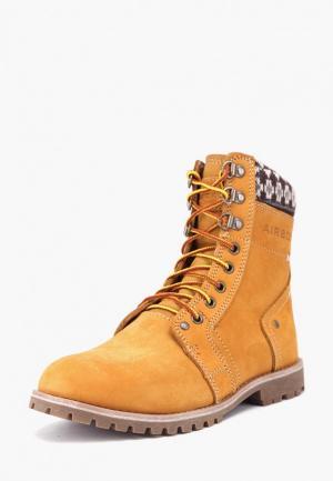 Ботинки Airbox. Цвет: желтый