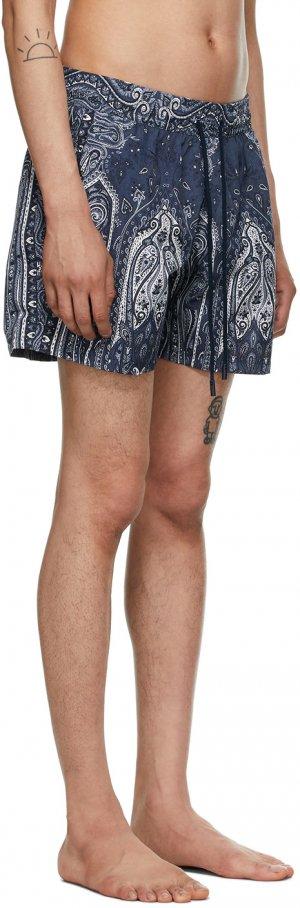 Navy Paisley Swim Shorts Etro. Цвет: 0200 blu