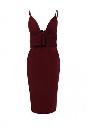 Платье LOST INK THE LABEL - OELLA MIDI DRESS. Цвет: бордовый
