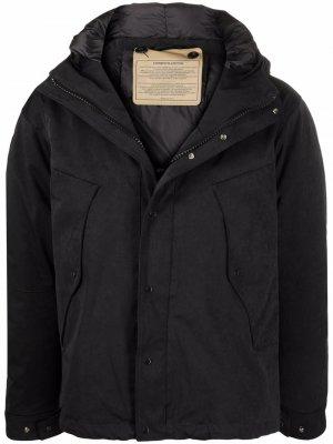 Куртка на молнии с капюшоном Ten C. Цвет: черный