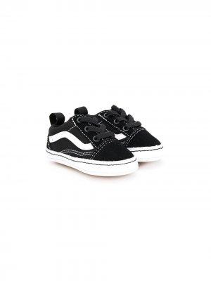 Кроссовки на шнуровке Vans Kids. Цвет: черный