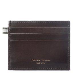 Холдер д/кредитных карт BOUDIN/22 темно-коричневый OFFICINE CREATIVE