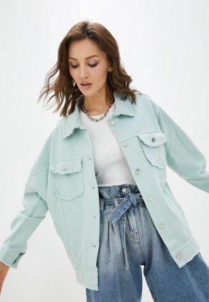 Куртка джинсовая Krismarin. Цвет: зеленый
