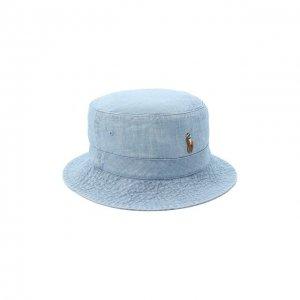 Хлопковая панама Polo Ralph Lauren. Цвет: синий