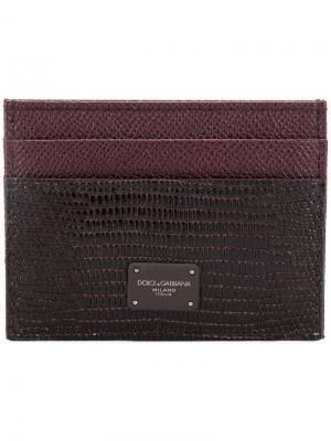 Визитница с тиснением Dolce & Gabbana. Цвет: коричневый