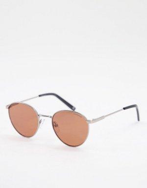 Солнцезащитные очки с круглыми стеклами -Оранжевый цвет Polaroid