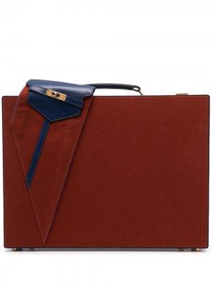 Портфель Himalaya 1986-го года Hermès. Цвет: синий