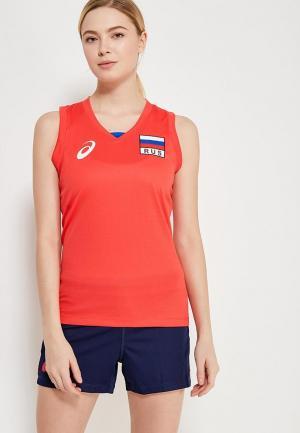 Майка спортивная ASICS WOMAN RUSSIA SLEEVELESS TEE. Цвет: красный