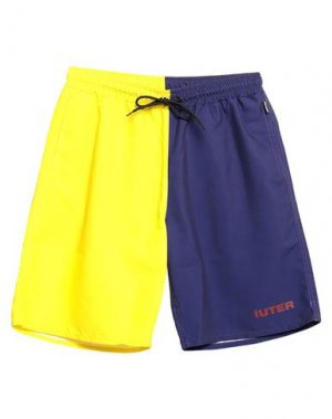 Шорты для плавания IUTER. Цвет: желтый