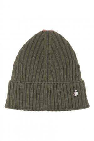 Зеленая шапка из шерсти Bosco. Цвет: зеленый