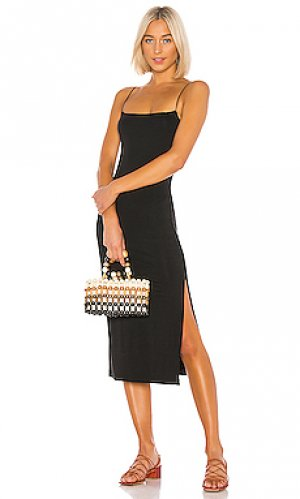 Платье-комбинация Enza Costa. Цвет: черный
