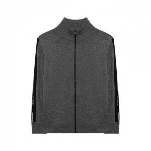 Шерстяная толстовка Givenchy. Цвет: серый