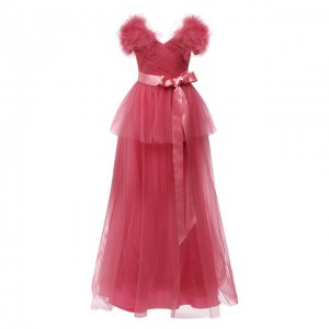 Платье Jenny Packham. Цвет: розовый