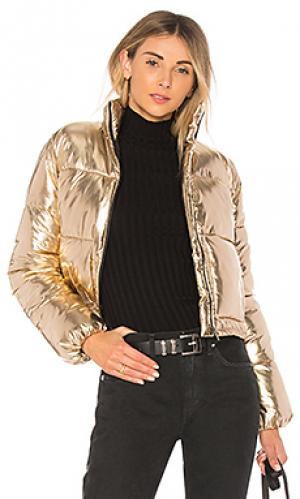 Дутая куртка ripley Lovers + Friends. Цвет: металлический золотой