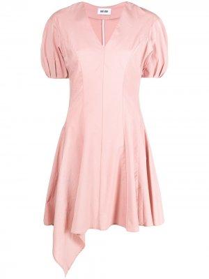 Платье Re-Sculptured с пышными рукавами Each X Other. Цвет: розовый