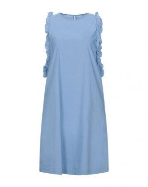 Короткое платье LA FABRIQUE. Цвет: небесно-голубой