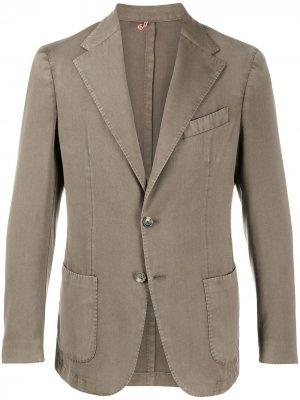 Delloglio однобортный пиджак с заостренными лацканами Dell'oglio. Цвет: коричневый