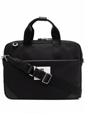 Сумка для ноутбука K/Ikonik с пряжкой Karl Lagerfeld. Цвет: черный