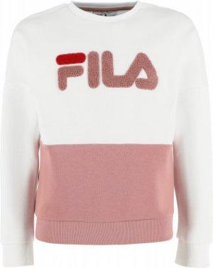 Свитшот для девочек , размер 164 FILA. Цвет: белый