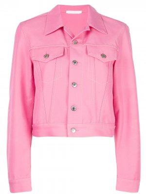 Укороченная джинсовая куртка Helmut Lang. Цвет: розовый