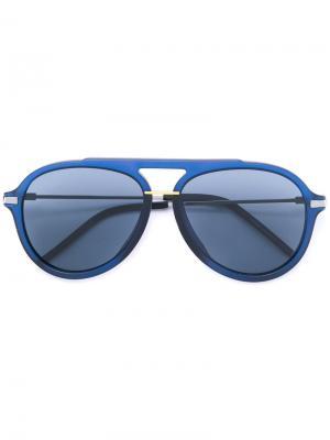 Солнцезащитные очки-авиаторы в толстой оправе Fendi Eyewear. Цвет: синий